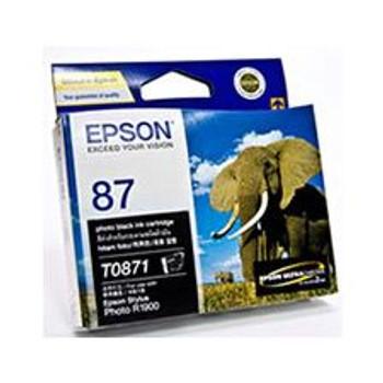 Image for Epson T0871 UltraChrome Hi-Gloss2 Photo Black (T087190) AusPCMarket