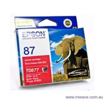 Image for Epson T0877 UltraChrome Hi-Gloss2 Red Ink (T087790) AusPCMarket