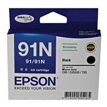 Image for Epson 91N Black Ink Cart 180 pages Black AusPCMarket