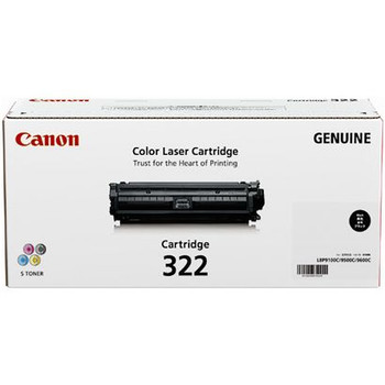 Image for Canon 322BK Toner cartridge 1 x black 6500 pages AusPCMarket