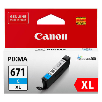 Image for Canon CLI-671XLC High Capacity Cyan Ink Cartridge Up To 715 pages AusPCMarket