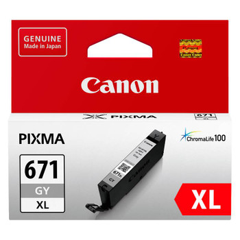 Image for Canon CLI-671XLGY High Capacity Grey Ink Cartridge AusPCMarket