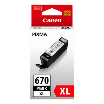 Image for Canon PGI-670XLBK High Capacity Black Ink Cartridge Up To 500 pages AusPCMarket