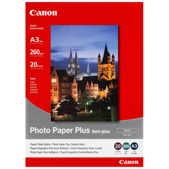Image for Canon SG201A3 Semi-Gloss Photo Paper Plus A3 - 20 Sheet Pack AusPCMarket