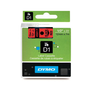 Image for Dymo Blk on Red 12mmx7m Tape 12mm x 7m AusPCMarket