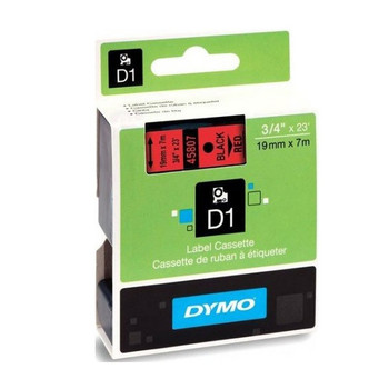 Image for Dymo Blk on Red 19mmx7m Tape 19mm x 7m AusPCMarket