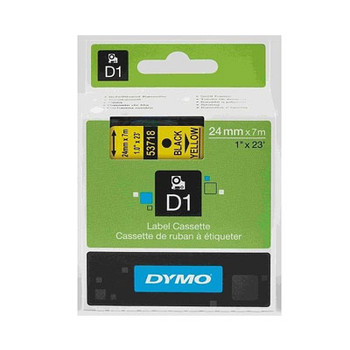 Image for Dymo Blk on Yell 24mmx7m Tape 24mm x 7m AusPCMarket