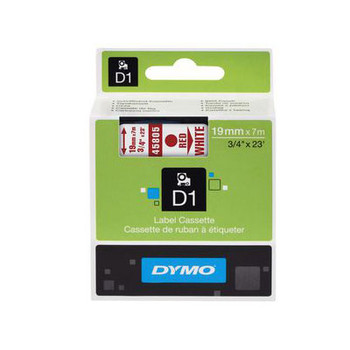 Image for Dymo Red on Wht 19mmx7m Tape 19mm x 7m AusPCMarket
