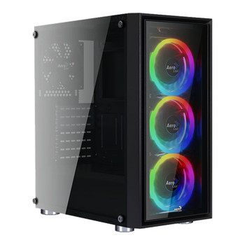 Image for Aerocool Quartz REVO RGB Tempered Glass Mid-Tower ATX Case - Black AusPCMarket