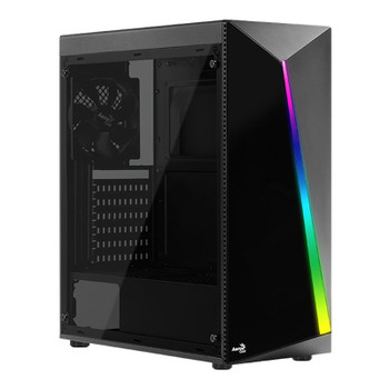 Image for Aerocool Shard RGB Mid-Tower ATX Case - Black AusPCMarket