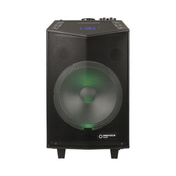 Digitech 12in Rechargeable PA Speakers with Wireless Microphone Product Image 2