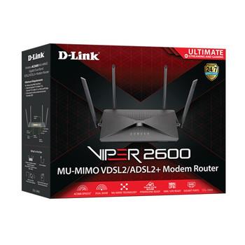D-Link DSL-3900 Viper 2600 Dual-Band VDSL2/ADSL2+ Gaming Modem Router Product Image 2
