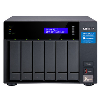 Image for QNAP TVS-672XT-I3-8G 6 Bay Diskless NAS i3-8100T 4 Core 3.1GHz 8GB AusPCMarket