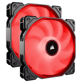 Image for Corsair Air Series AF140 LED (2018) Low Noise 140mm Fan - Red - 2 Pack AusPCMarket