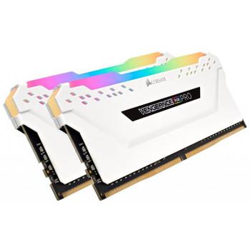 Corsair Vengeance RGB PRO 16GB (2x 8GB) DDR4 2666MHz Memory - White Product Image 2