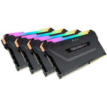 Corsair Vengeance RGB PRO 32GB (4x 8GB) DDR4 3200MHz Memory - Black Product Image 2