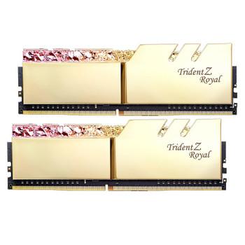 G.Skill Trident Z Royal RGB 16GB (2x 8GB) DDR4 CL16 3000MHz Memory - Gold Product Image 2