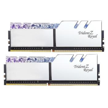 G.Skill Trident Z Royal RGB 16GB (2x 8GB) DDR4 CL16 3200MHz Memory - Silver Product Image 2