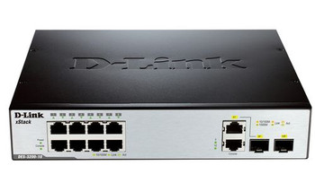 Image for D-Link 8-Port 10/100Mbps + 2x 1000BaseT & 1x 1000BaseT / SFP L2 Managed Switch AusPCMarket