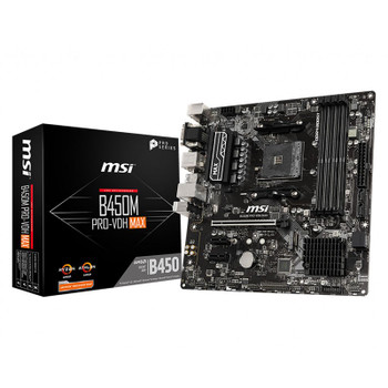 Image for MSI B450M Pro-VDH Max AM4 Micro-ATX Motherboard AusPCMarket