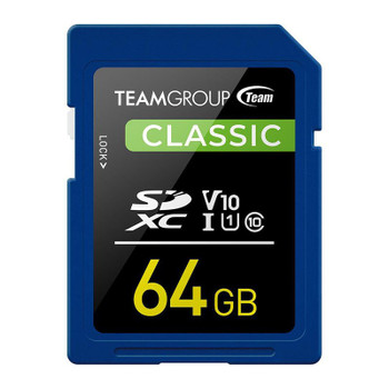 Image for Team Classic 64GB SDXC U1 V10 Class 10 Memory Card AusPCMarket