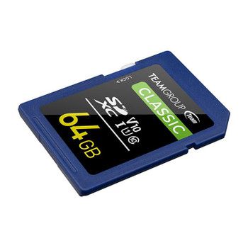 Team Classic 64GB SDXC U1 V10 Class 10 Memory Card Product Image 2