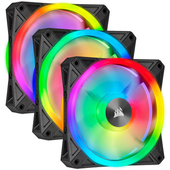Image for Corsair iCUE QL120 RGB 120mm PWM Fan - Three Pack with Lighting Node CORE AusPCMarket