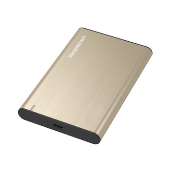 Image for Simplecom SE221 Aluminium 2.5in SATA HDD/SSD USB3.1 Enclosure - Gold AusPCMarket