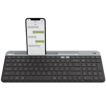 Image for Logitech K580 Slim Multi-Device Wireless Keyboard - Graphite AusPCMarket