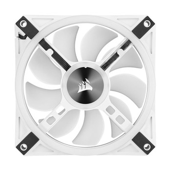Corsair iCUE QL120 RGB White 120mm PWM Fan - Three Pack with Lighting Node CORE Product Image 2