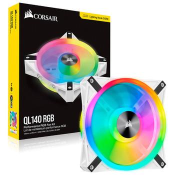 Corsair iCUE QL140 RGB White 140mm PWM Single Fan Product Image 2