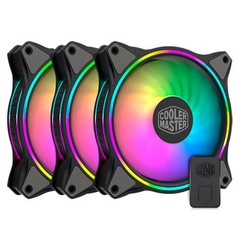 Image for Cooler Master MF120 Halo ARGB 120mm Case Fan - 3 Pack with Controller AusPCMarket