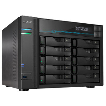 Image for Asustor AS6510T 10-Bay Diskless Desktop NAS Quad-Core Atom CPU 8GB RAM AusPCMarket