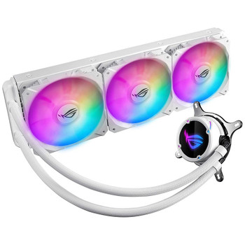 Image for Asus ROG Strix LC 360 RGB AiO Liquid CPU Cooler - White AusPCMarket