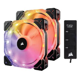 Image for Corsair HD140 RGB LED High Performance 140mm PWM Fan - Dual Pack with Controller AusPCMarket