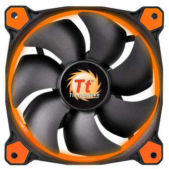 Image for Thermaltake Riing 12 High Static Pressure 120mm Orange LED Fan AusPCMarket
