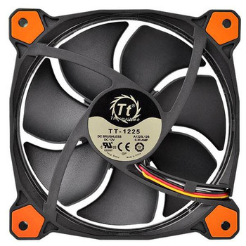 Thermaltake Riing 12 High Static Pressure 120mm Orange LED Fan Product Image 2