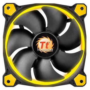 Image for Thermaltake Riing 12 High Static Pressure 120mm Yellow LED Fan AusPCMarket