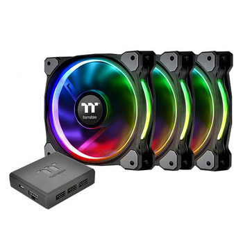 Image for Thermaltake Riing Plus 12 TT Premium Edition 120mm LED RGB Fan - 3 Fan Pack AusPCMarket