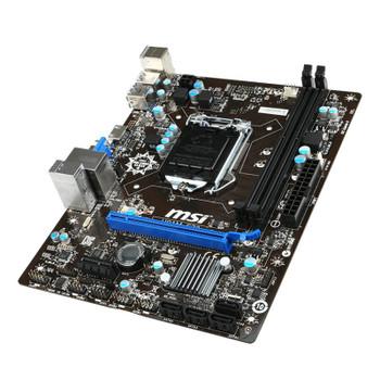 MSI H81M-E33 LGA 1150 Micro-ATX Motherboard Product Image 2