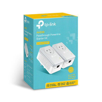 TP-Link TL-PA4010PKIT AV500 Passthrough Powerline Starter Kit Product Image 2