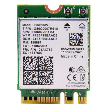 Image for Intel Dual Band Wireless-AC 9260 Wi-Fi/Bluetooth Combo Adapter AusPCMarket