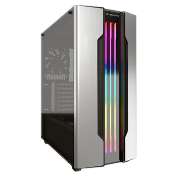 Image for Cougar Gemini S RGB Tempered Glass Mid-Tower ATX Case - Silver AusPCMarket
