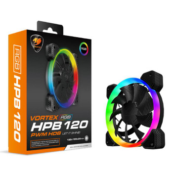 Image for Cougar Vortex HPB 120 RGB LED 120mm PWM Fan AusPCMarket