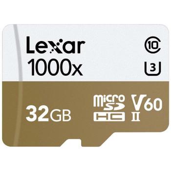 Image for Lexar Professional 1000x 32GB microSDHC UHS-II U3 C10 V60 Memory Card - 150MB/s AusPCMarket