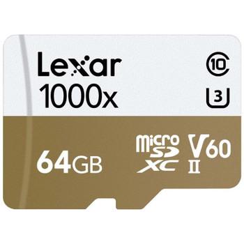 Image for Lexar Professional 1000x 64GB microSDXC UHS-II U3 C10 V60 Memory Card - 150MB/s AusPCMarket