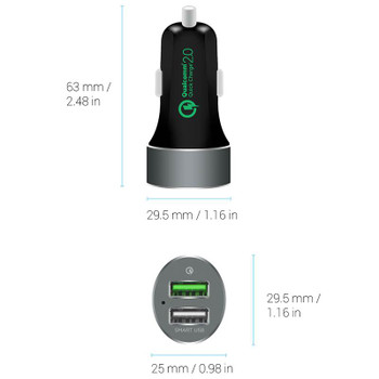 mBeat QuickBoost S Dual Port Smart USB Car Charger Product Image 2