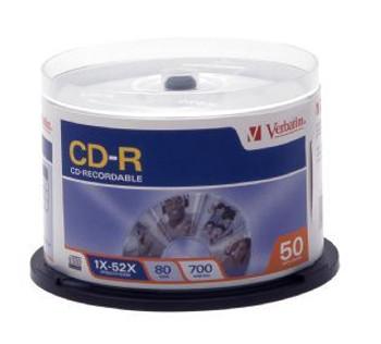 Image for Verbatim CD-R 80 Min 700MB 50 Pack Spindle 52x (94691) AusPCMarket