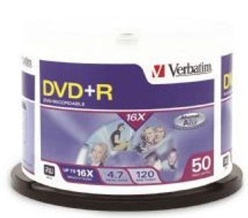 Image for Verbatim DVD+R 4.7GB 50Pack Spindle 16x (95037) AusPCMarket