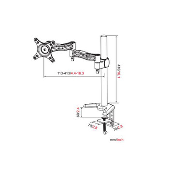 Vision Mounts Single LCD Monitor Arm Desk Mount 13in-27in Product Image 2